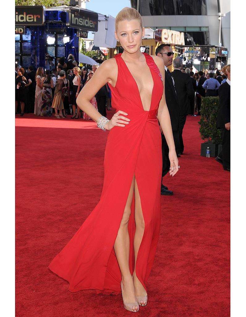 Blake lively robe rouge