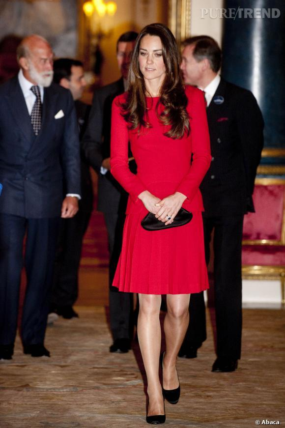 Kate middleton robe rouge