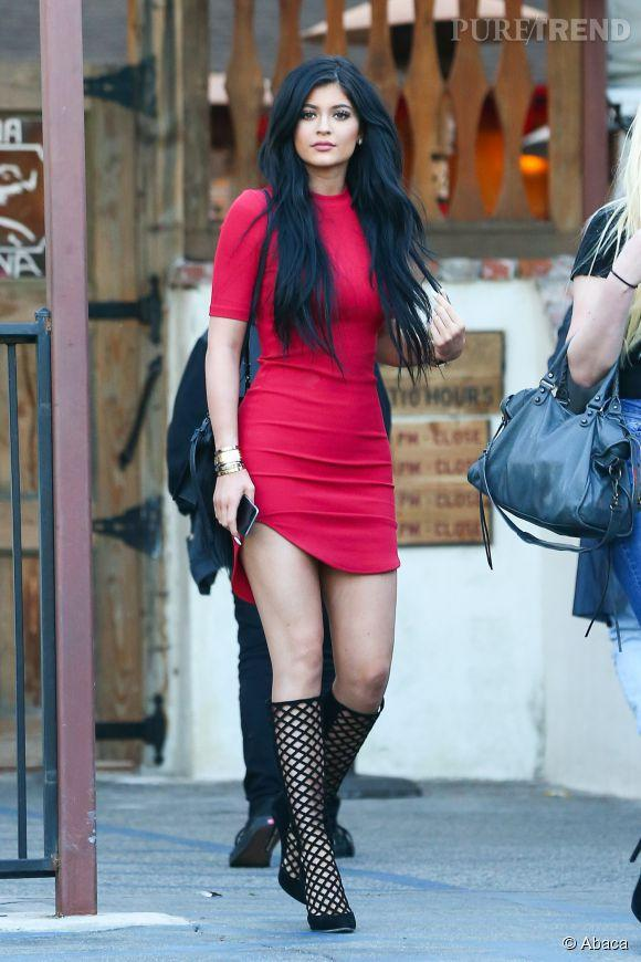 Kylie jenner robe rouge
