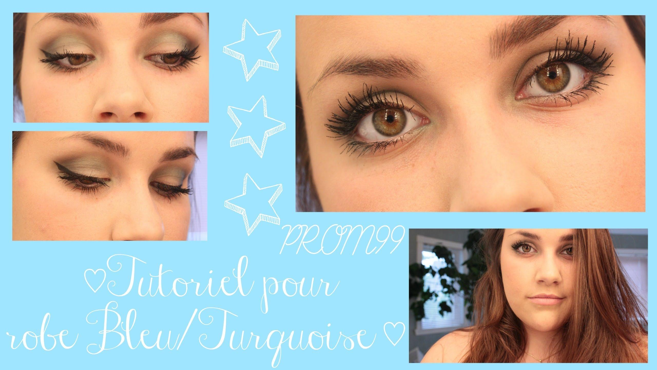 Maquillage robe bleu