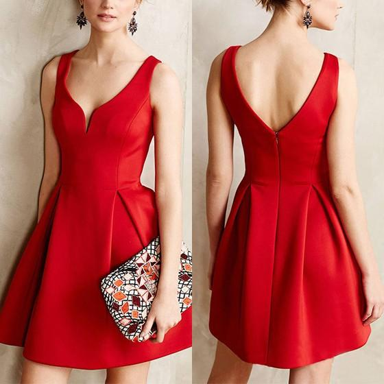 Mini robe rouge