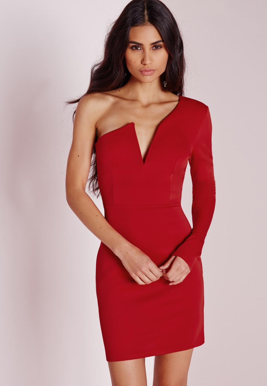 Missguided robe rouge