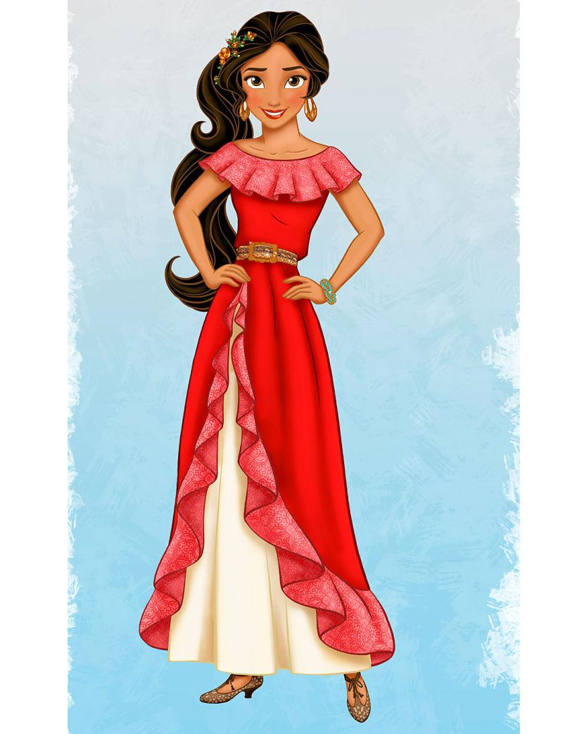Princesse disney robe rouge