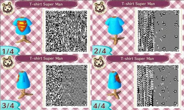 Qr code animal crossing new leaf robe bleu
