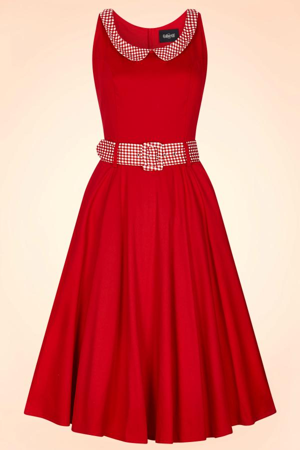 Robe année 50 rouge