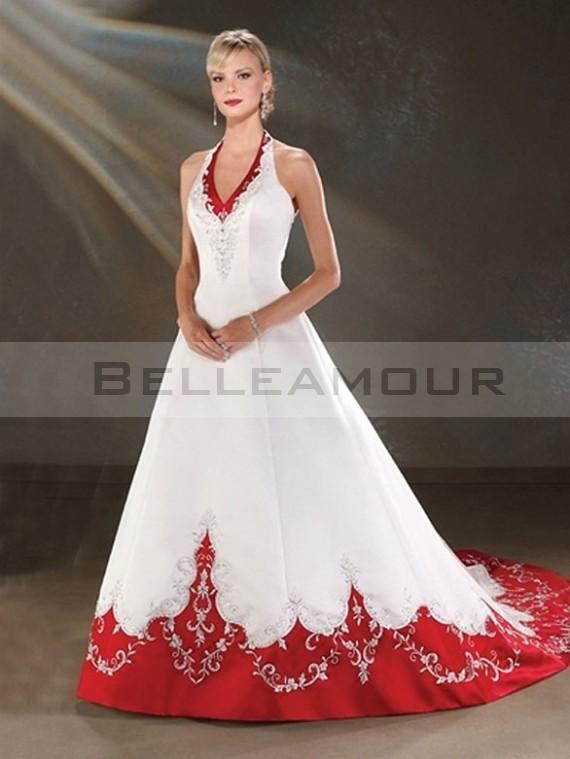 Robe blanche et rouge