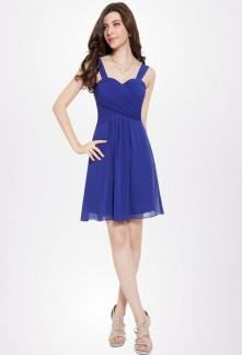 Robe bleu simple