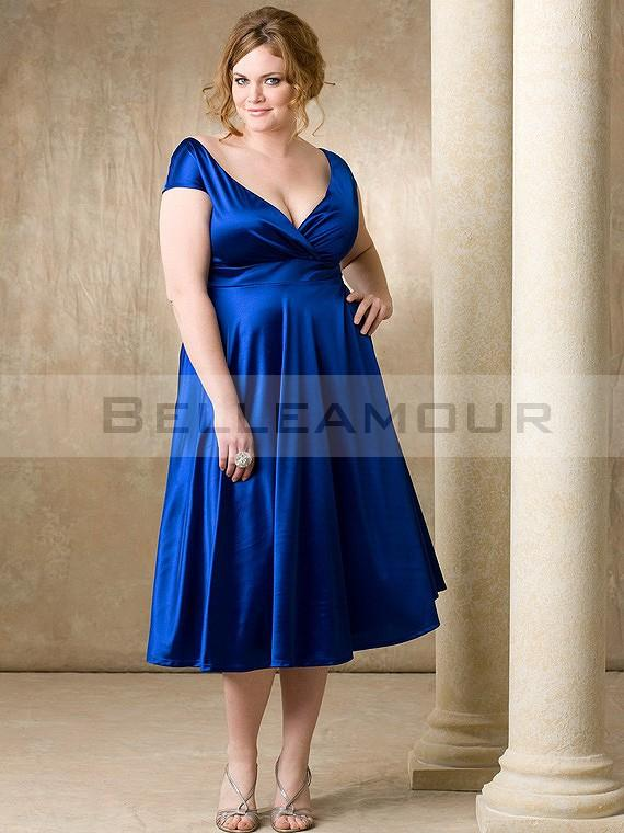 Robe bleu turquoise grande taille