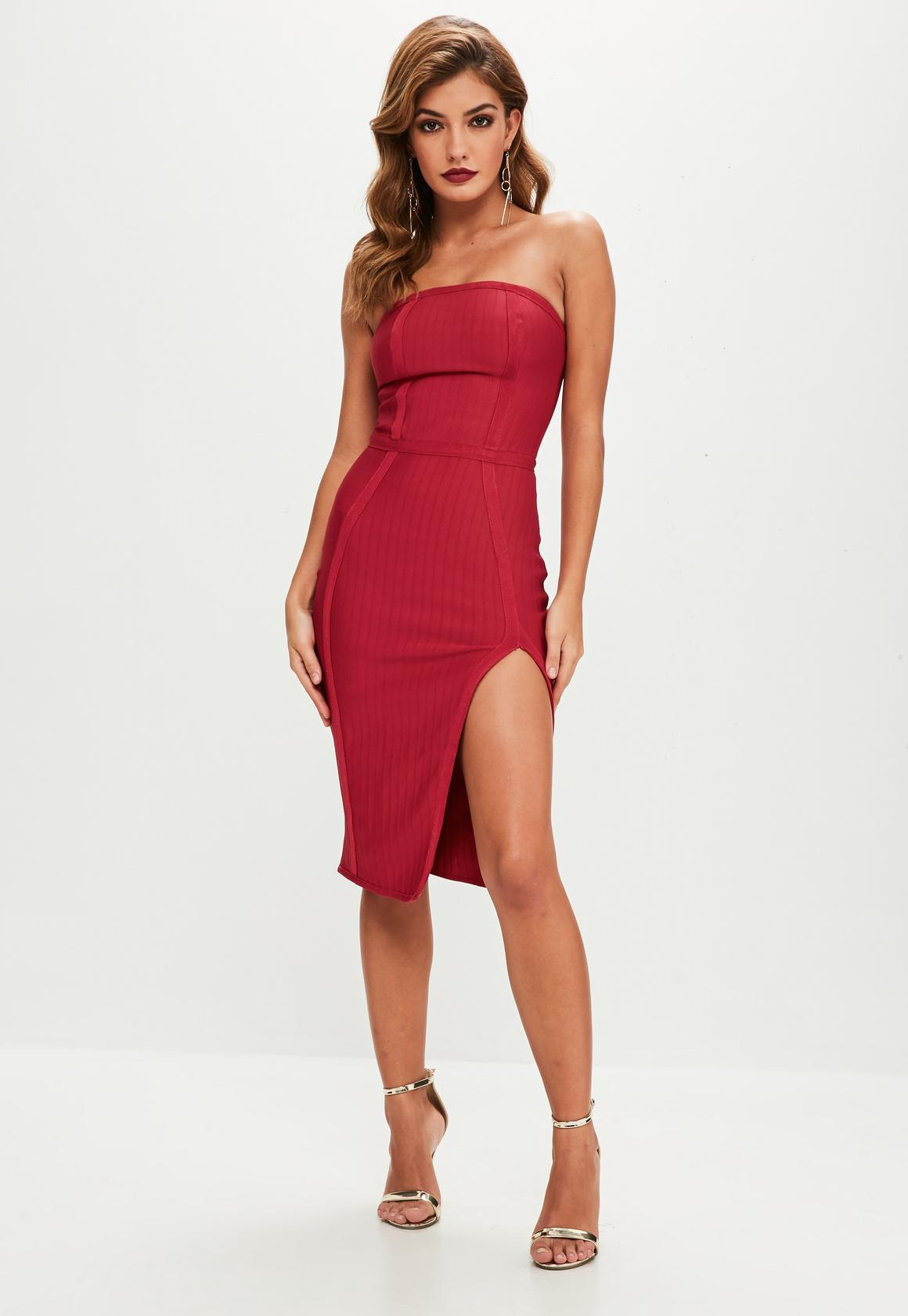 Robe bustier rouge