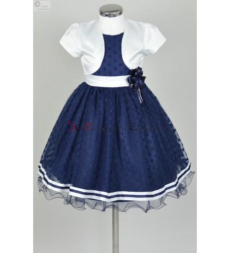 Robe ceremonie fille bleu