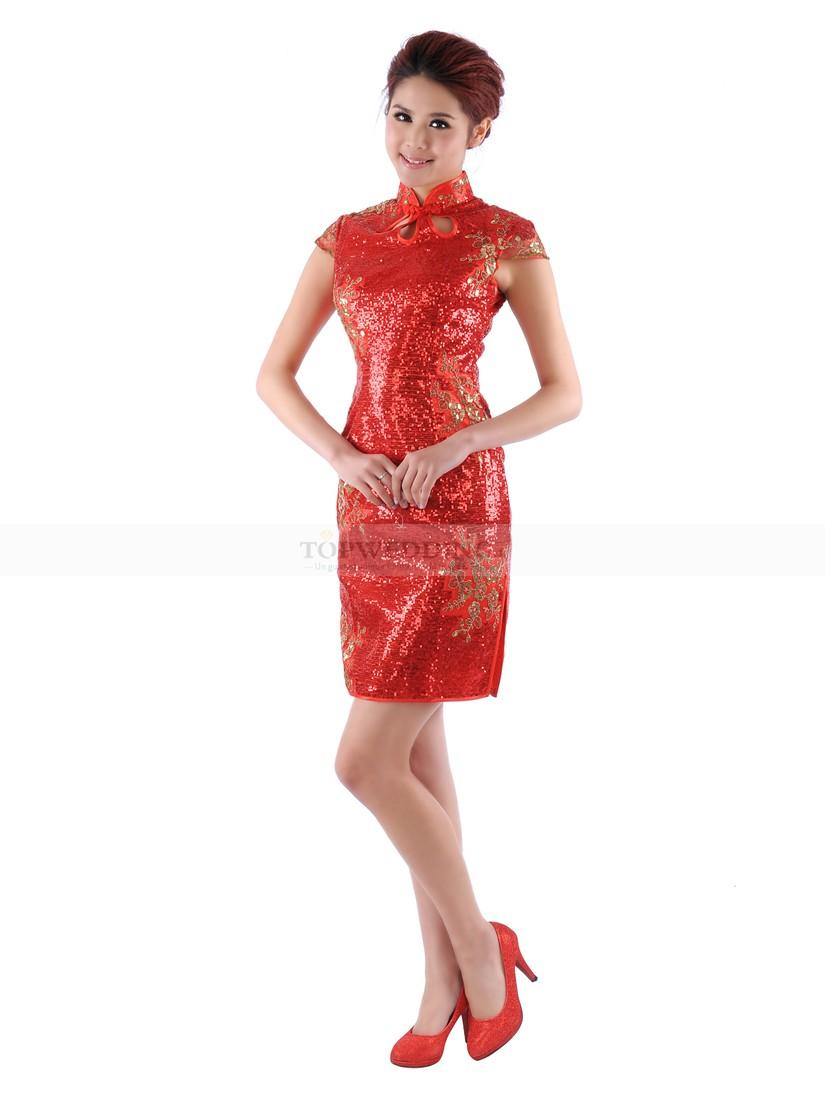Robe chinoise rouge