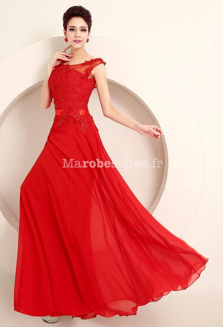 Robe cocktail mariage rouge