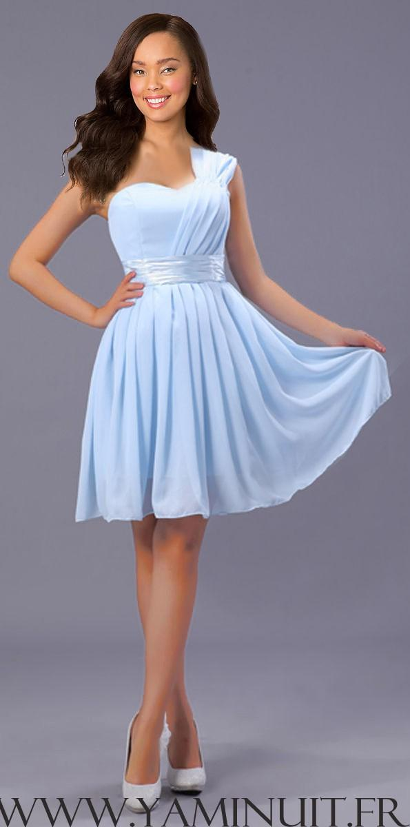 Robe de cocktail bleu ciel