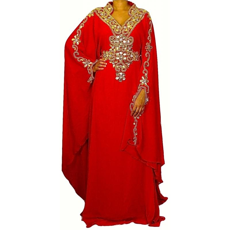Robe dubai rouge