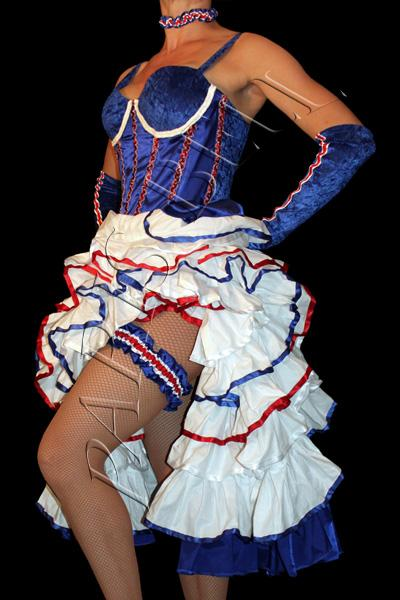 Robe french cancan bleu blanc rouge