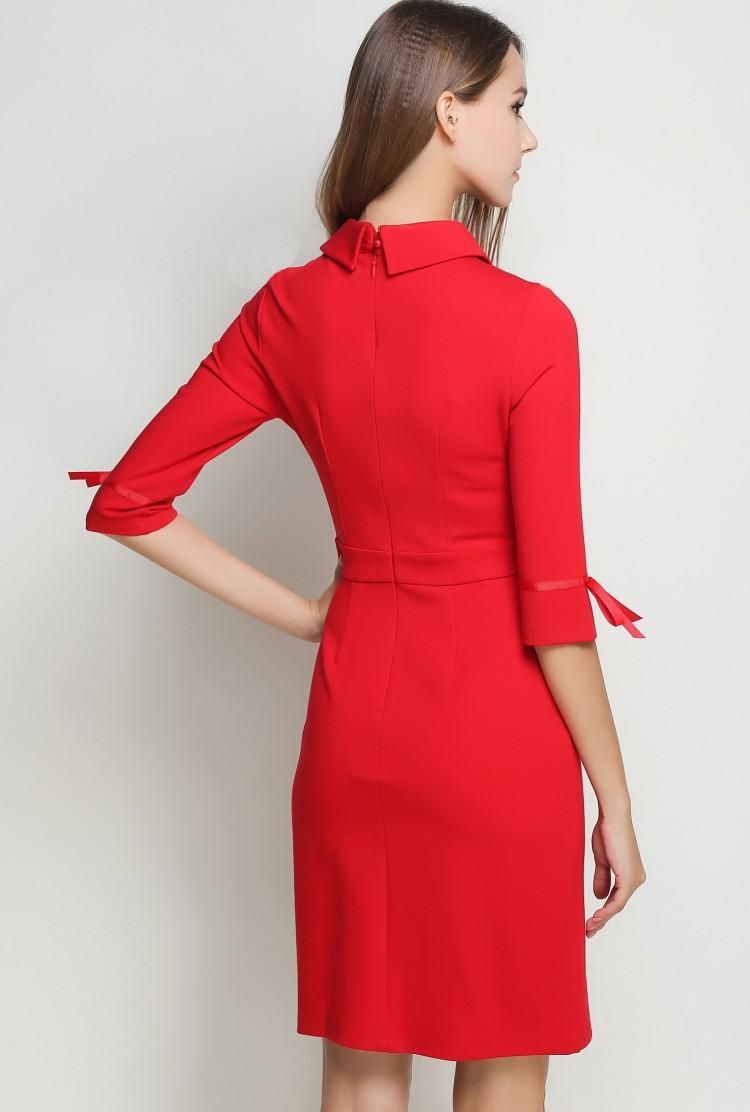 Robe hiver rouge