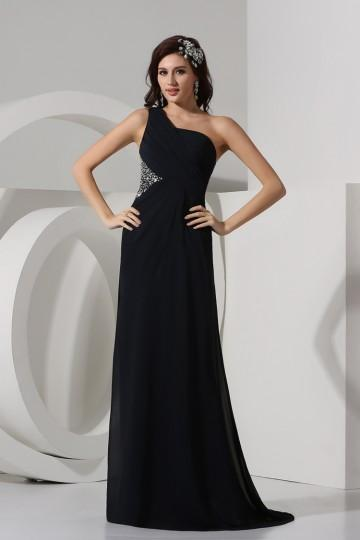 Robe longue noir simple
