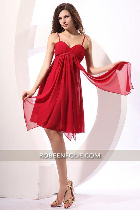 Robe mousseline rouge