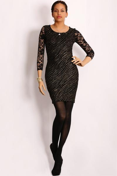 Robe noir brillante