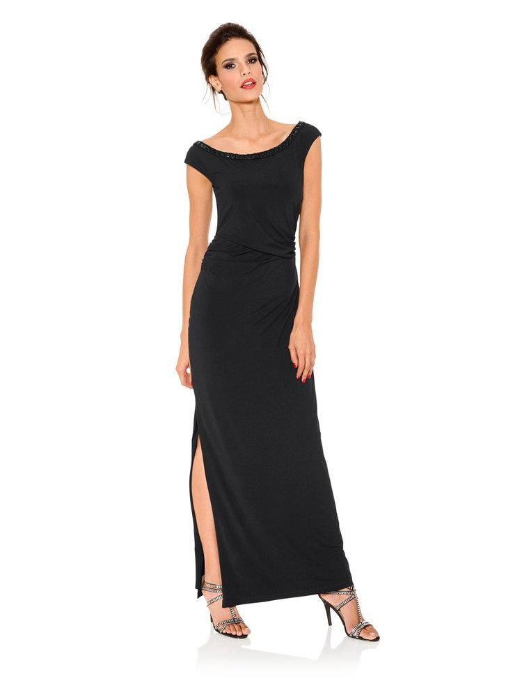 Robe noir simple longue
