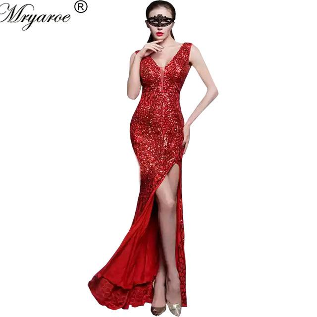 Robe paillette rouge