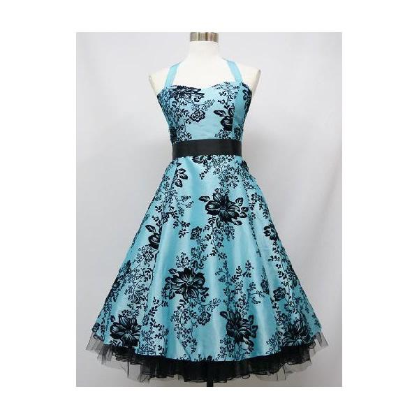 Robe pin up bleu