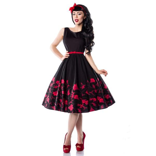 Robe pin up noir et rouge