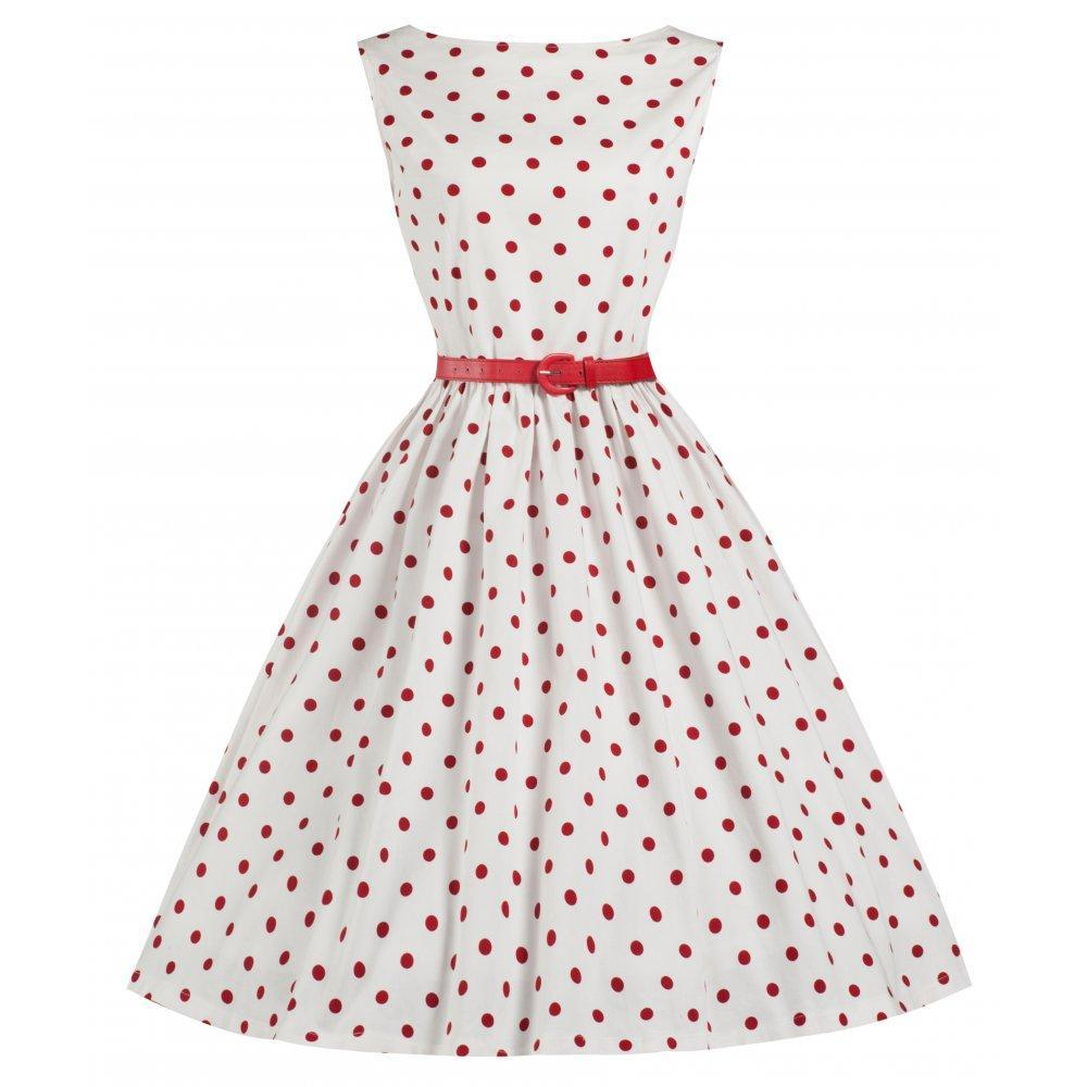 Robe pois rouge