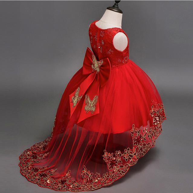 Robe princesse rouge fille