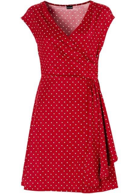 Robe rouge à pois