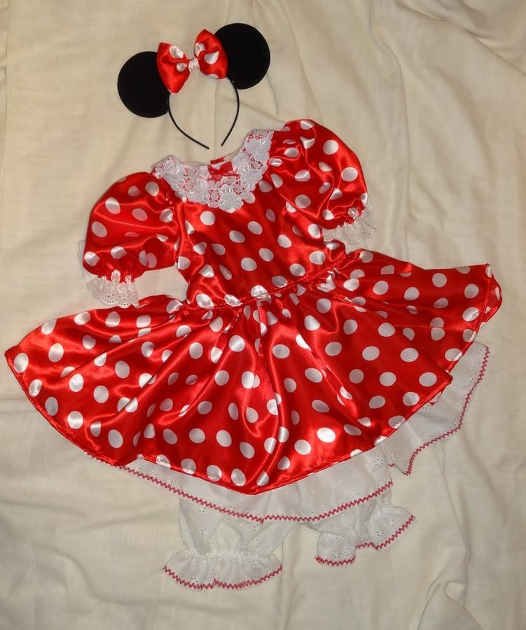 Robe rouge a pois blanc minnie