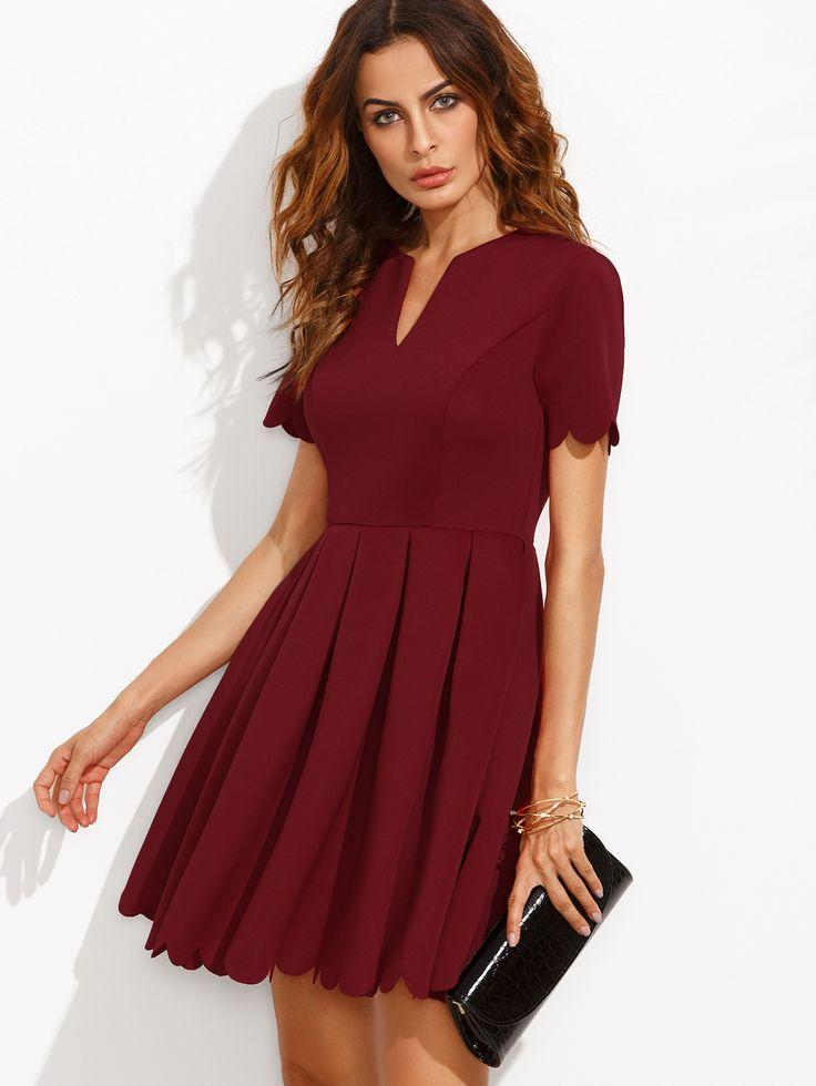 Robe rouge bordeaux