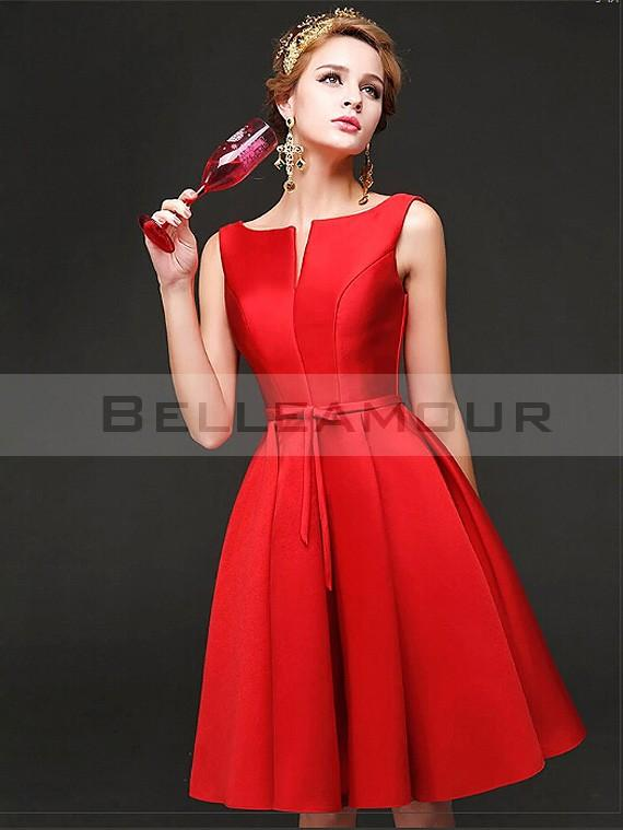Robe rouge chic