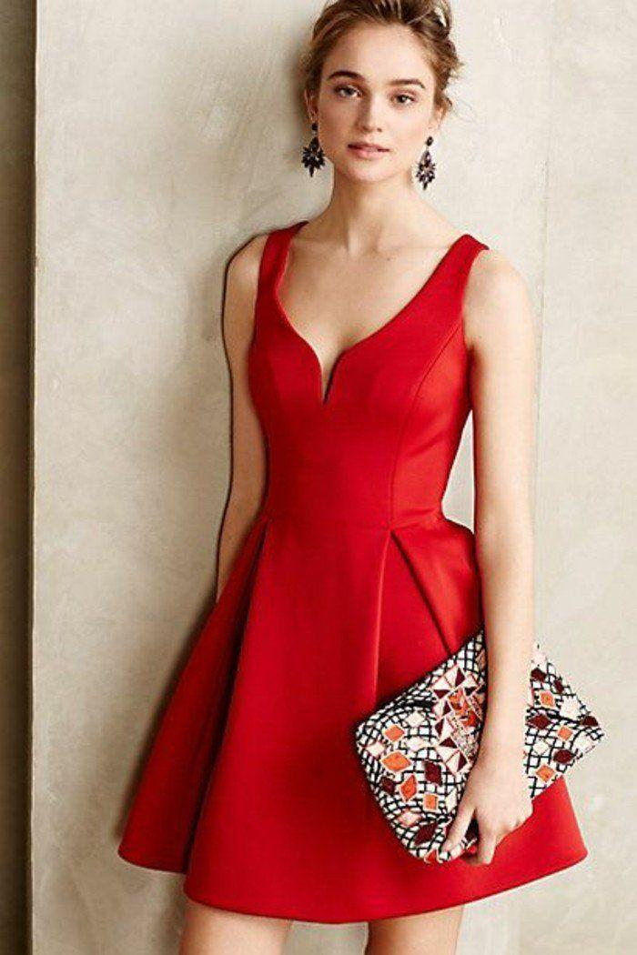 Robe rouge courte pas cher