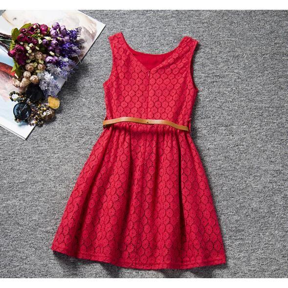 Robe rouge fille 10 ans