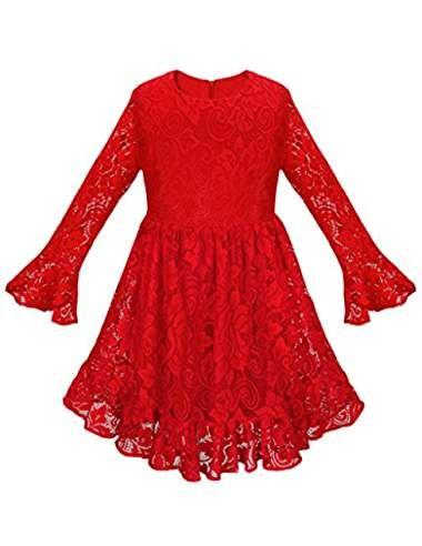 Robe rouge fille 8 ans