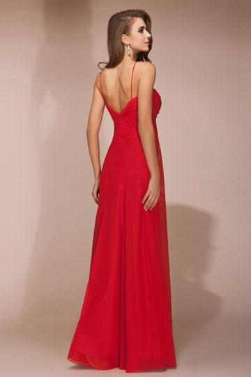 Robe rouge fine bretelle