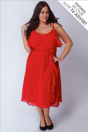 Robe rouge grande taille pas cher