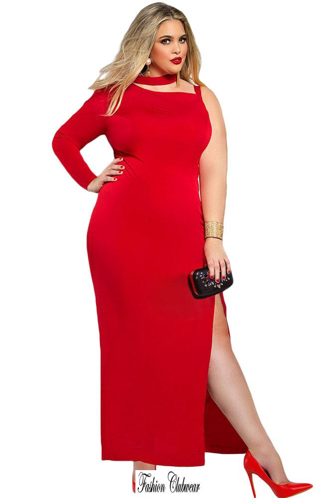 Robe rouge grande taille