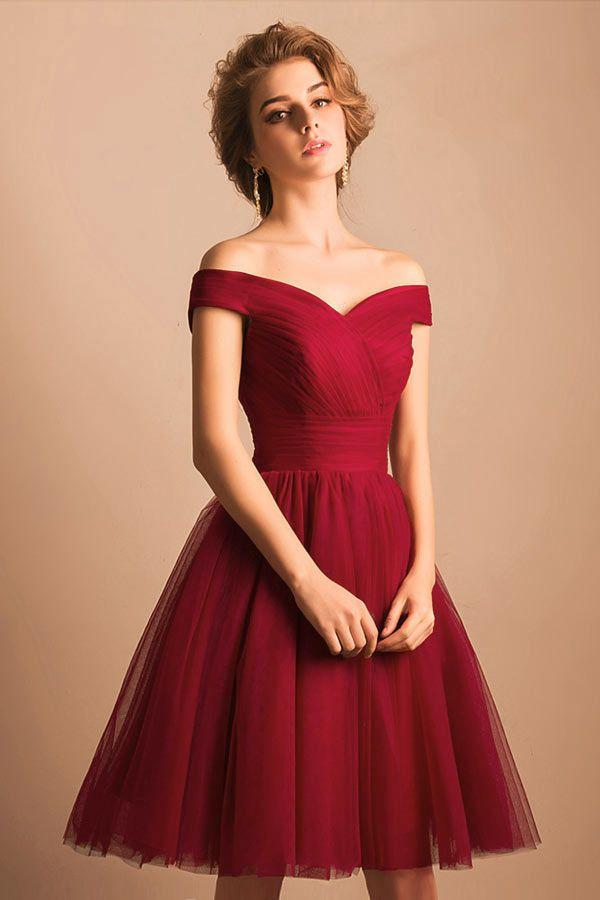 Robe rouge grenat