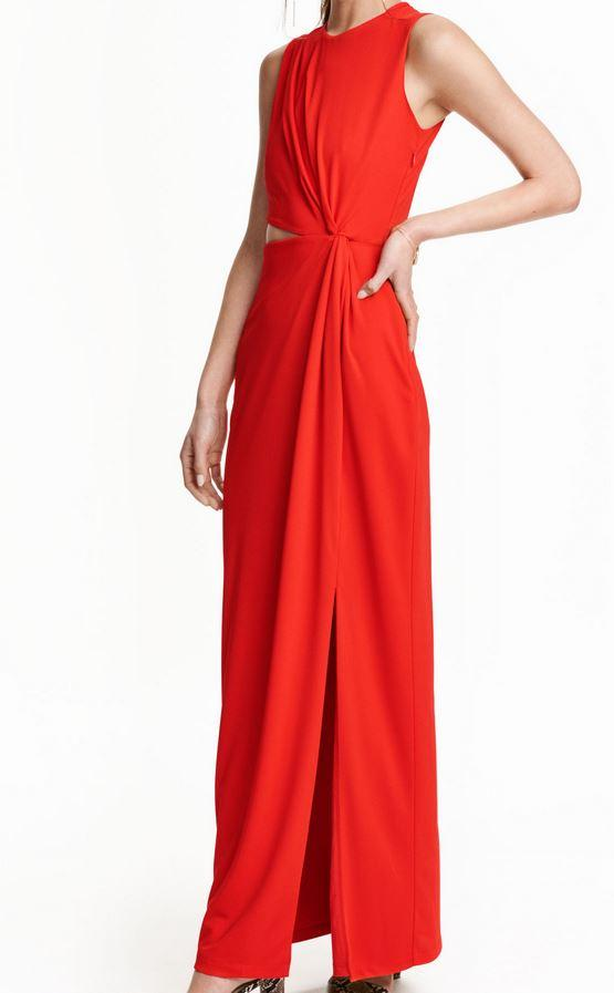 Robe rouge hm