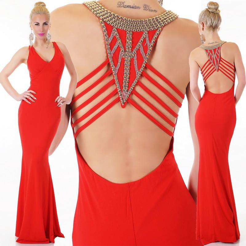 Robe rouge longue sexy