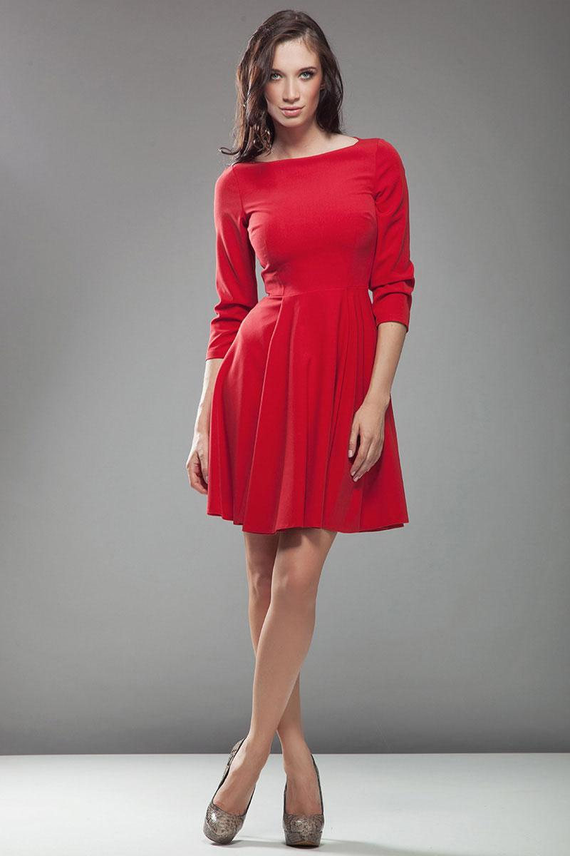 Robe rouge manche 3/4