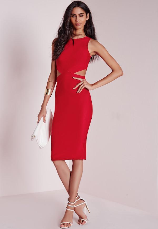 Robe rouge mariage invité