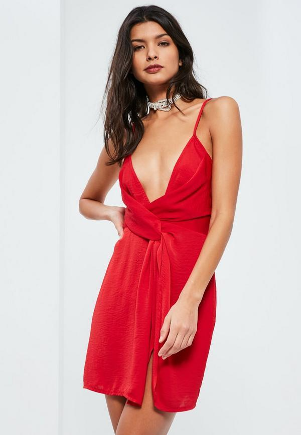 Robe rouge missguided