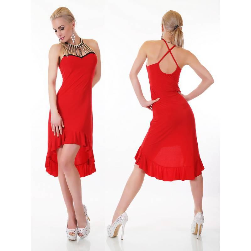 Robe rouge pas chere