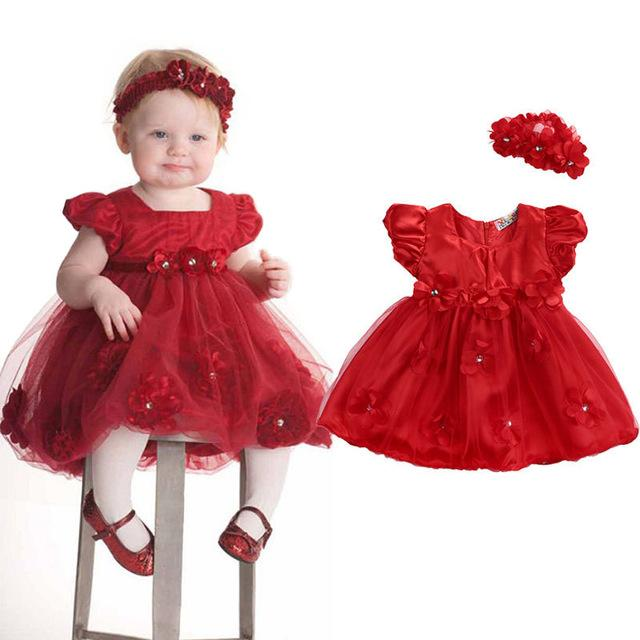 Robe rouge petite fille