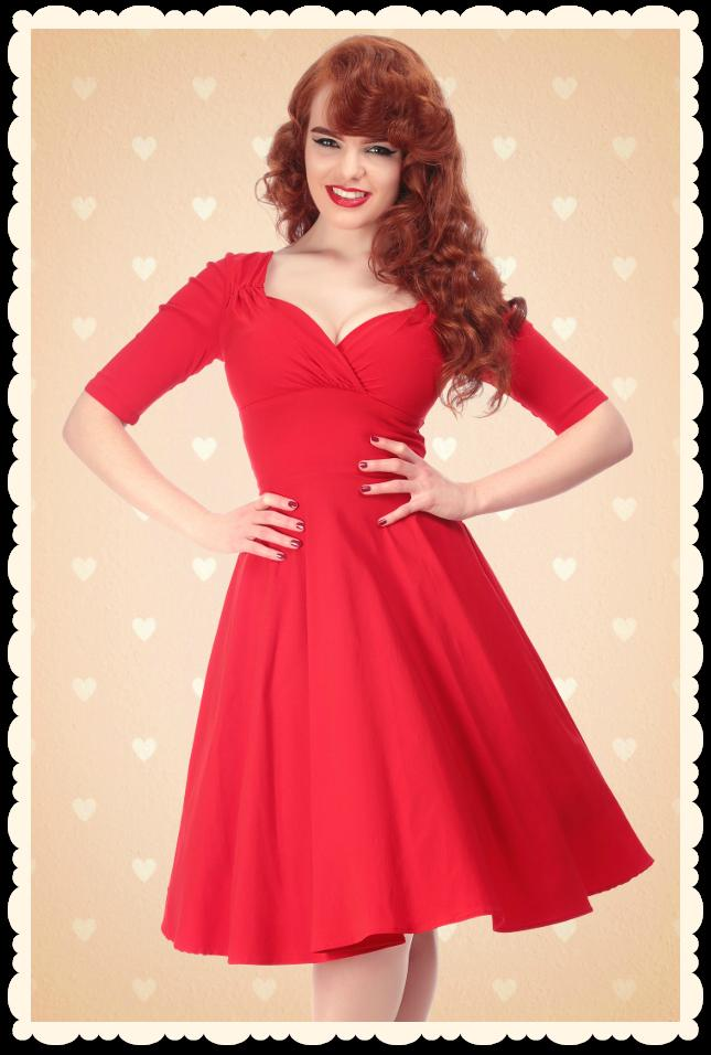 Robe rouge pin up