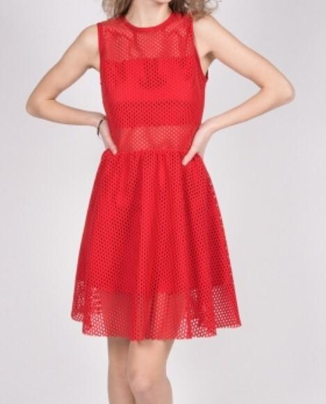 Robe rouge sandro