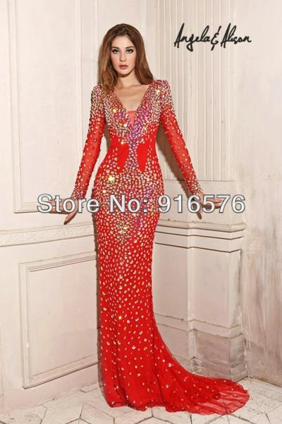 Robe rouge strass